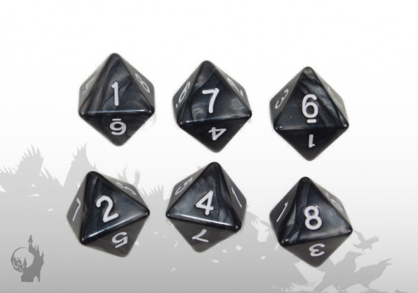 Dice Set (D8) (Black)