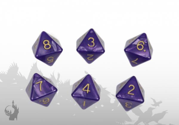 Dice Set (D8) (Violet)