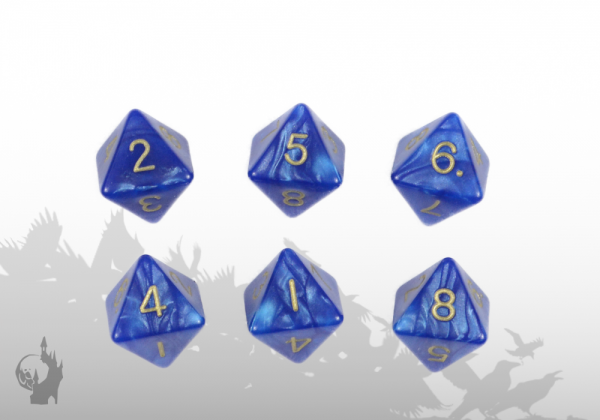 Dice Set (D8) (Blue)
