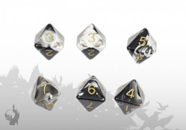 Dice Set (D8) (Marble)
