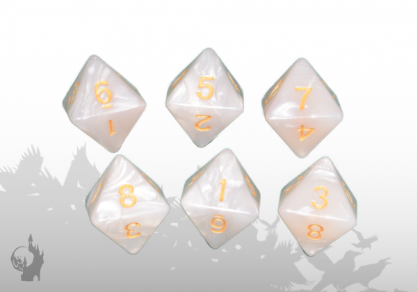 Dice Set (D8) (White)