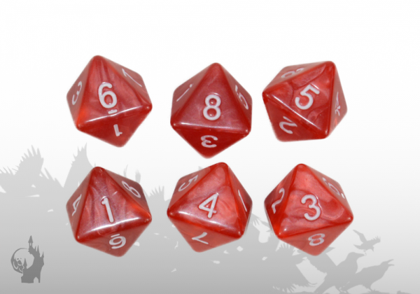 Dice Set (D8) (Fire, Red)